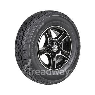 "Wheel 14x5.5"" Alloy Razor Black 5x4.5"" PCD Rim 195R14C 8ply Tyre W312 Westlake"