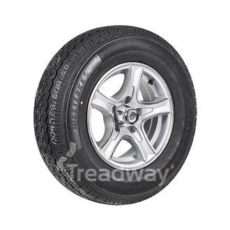 "Wheel 14x5.5"" Alloy Razor Silver 5x4.5"" PCD Rim 195R14C 8ply Tyre W312 Westlake"