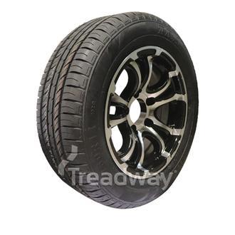 """Wheel 14x6"""" Alloy Loadstar XT Black 5x4.5"""" PCD Rim 195/60R14 Hi Load Tyre W189 T"""