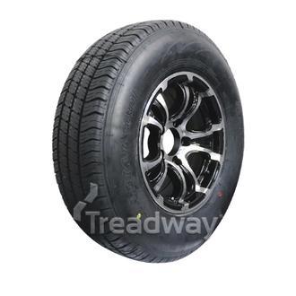 "Wheel 14x6"" Alloy Loadstar XT Black 5x4.5"" PCD Rim 205R14C Tyre Westlake 109/107"