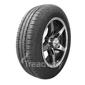 "Wheel 13x5'' Alloy Blade Slvr/Black 5x4.5"" PCD Rim 155/70R13 W188 Westlake 75T"