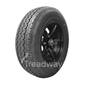 "Wheel 14x5.5"" Alloy Blade Satin Black 5x4.5"" PCD Rim 195R14C 8ply Tyre Westlake"