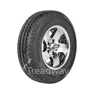 "Wheel 14x6"" Alloy Twist Black 5x4.5"" PCD Rim 195/60R14 Hi Load Tyre W189 Trax"