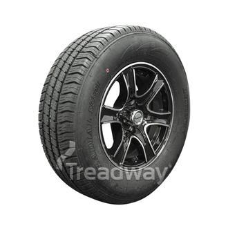 "Wheel 15x6"" Alloy Razor Black 5x4.5"" PCD Rim 225/70R15C 8ply Tyre W185"