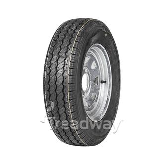 "Wheel 12x4"" Galv Spoke 4x4"" PCD Rim 155R12C 6ply Tyre W312"