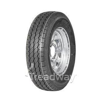 "Wheel 13x5"" Galv Spoke 5x4.5"" PCD (0 OS) Rim 165R13C 8ply Tyre W191 Velocity"
