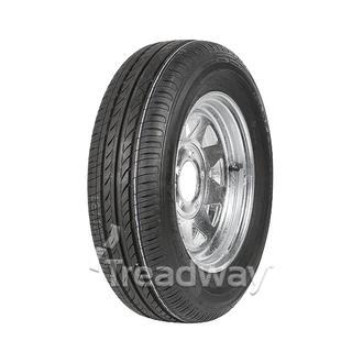 """Wheel 14x6"""" Galv Spoke 5x4.5"""" (10mm OS) PCD Rim 195/60R14 Tyre+ Tu"""