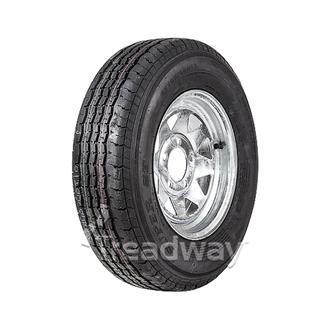 """Wheel 13x5"""" Galv Spoke 5x4.5"""" PCD Rim 185/80R13 8ply Tyre W176"""
