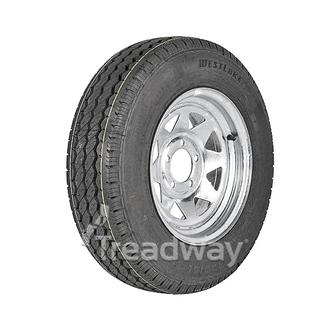 "Wheel 14x6"" Galv Spoke 5x4.5"" (0 OS) PCD Rim 185R14C 8ply Tyre W305"