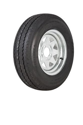 "Wheel 14x6"" Galv Spoke 5x4.5"" (0 OS) PCD Rim 195R14C 8ply Tyre W312 Westlake"