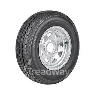 "Wheel 14x6"" Galv Spoke 5x4.5"" (10mm OS) PCD Rim 195R14C 8ply Tyre W312 Westlake"