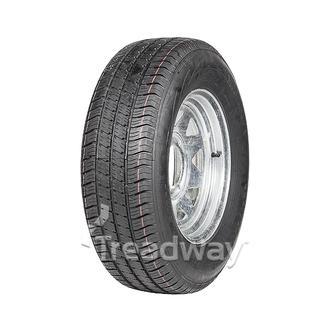 """Wheel 15x6"""" Galv Spoke 6x5.5"""" PCD Rim 225/70R15C 8ply Tyre W185"""