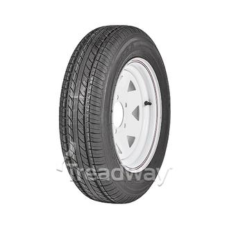 "Wheel 13x4.5"" White Spoke 5x4.5"" PCD Rim 155/80R13 Tyre W187 79T"