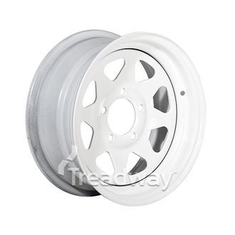 "Rim 14x6 Steel White Spoke 5x4.5"" PCD"