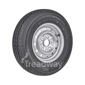 """Wheel 14x5.5"""" Galv. 35mm Offset 5x4.5"""" PCD Rim 195R14C 8ply Tyre W312 Westlake"""