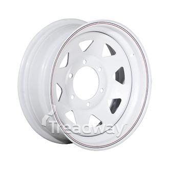 "Rim 15x6"" Steel White Spoke 6x5.5"" PCD"