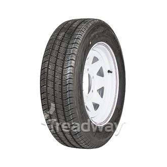 "Wheel 15x6"" White Spoke 6x5.5"" PCD Rim 195/70R15C 8ply Tyre W185"