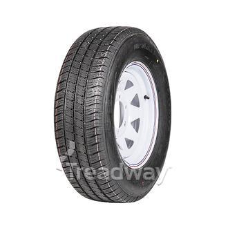 """Wheel 15x6"""" White Spoke 6x5.5"""" PCD Rim 225/70R15C 8ply Tyre W185"""