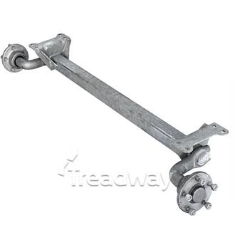 "Axle Torsion Suspension Un/br 750kg Galv 5x4.5"" PCD with S/S Bearing Knott"