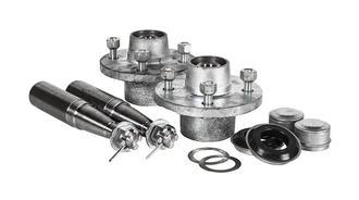 """Hub Set 1500kg 4x4.5"""" PCD Cast Steel"""