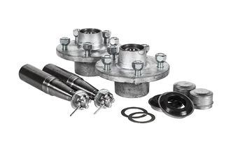 """Hub Set 1500kg 5x4.5"""" PCD Galv Cast Steel"""