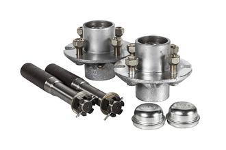 """Hub Set 900kg 4x4"""" PCD Cast Steel"""