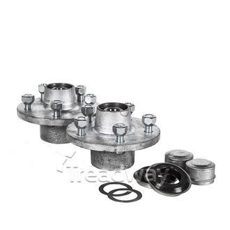 """Hub Set 1750kg 5x4.5"""" PCD Cast Steel No Axles"""