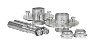 """Hub Set 4x4"""" PCD 25mm BB Pressed Steel"""