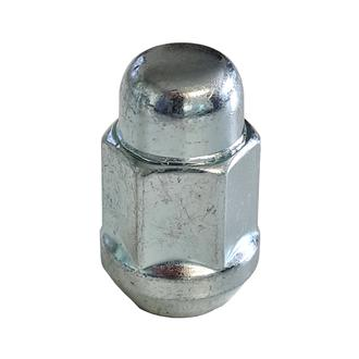 """Wheel Nut domed ½"""" 19mm hex Zinc Plated"""
