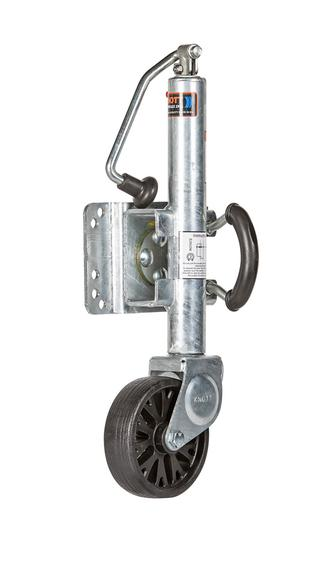 "Jockey Wheel Assy Knott 6"" Wheel Topwind 545kg Galv"