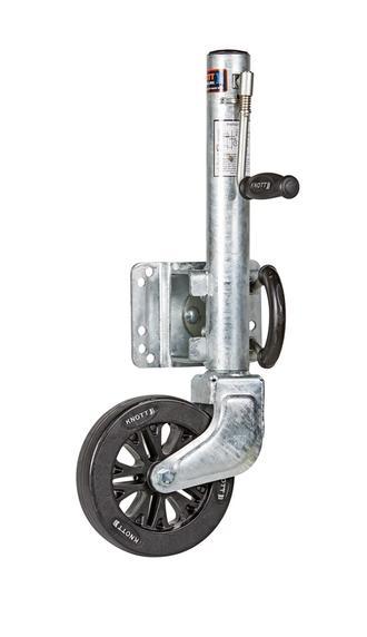 """Jockey Wheel Assy Knott 8"""" Wheel Sidewind 545kg Galv"""