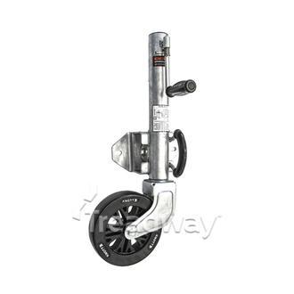 "Jockey Wheel Assy Knott 8"" Wheel Sidewind 545kg 2 Bolt Galv"