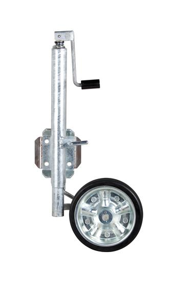 "Jockey Wheel Assy 8"" Solid Galv 150kg Weld-on"