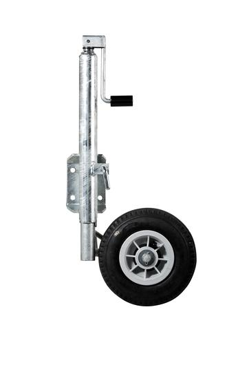 "Jockey Wheel Assy 280/250-4"" Galv 150kg Weld on"