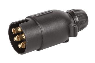 Trailer Plug 7 pin Round Plastic
