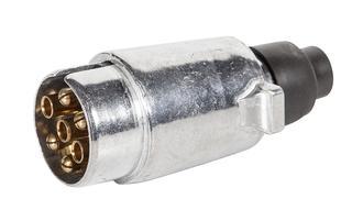Trailer Plug 7 pin large round metal