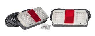Trailer Tail light Kit, Pair 156x81mm LED Multi Volt. 9m Cable