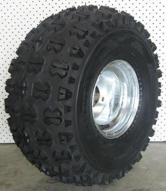 """Wheel 7.00-8"""" Galv 4x4"""" PCD Rim 20x11-8 6ply Studded Tyre W126"""