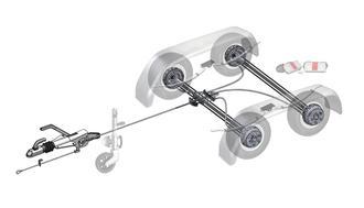 Trailer Kit 2700kg Knott Braked Tandem 195/50R13C Wheels