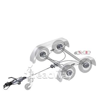 "Trailer Kit 3500kg Knott Braked Tandem 13"" Wheels"