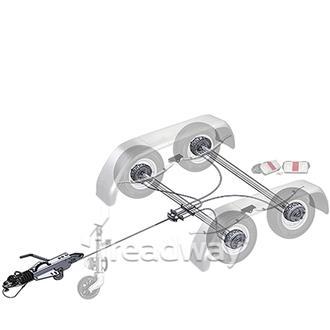 """Trailer Kit 3500kg Knott Braked Tandem 14"""" Wheels"""