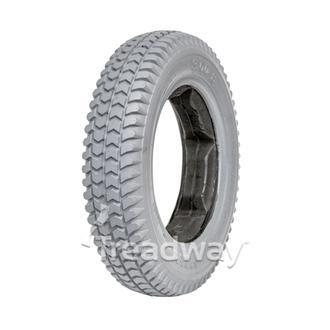Tyre 300-8 Grey PU Fill Lugged Profile W2805 LUGGED C248