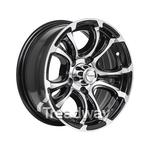 "Rim 13x5 Alloy Loadstar XT Black 5x4.5"" PCD"