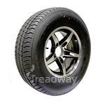 """Wheel 14x5.5'' Alloy Blade Slvr/Black 5x4.5"""" PCD Rim 215/75R14C 8ply W180 Westla"""