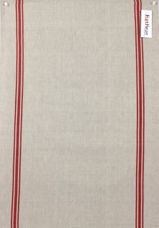 Marseille linen union t-towel red Code: T/T-MAR/RED