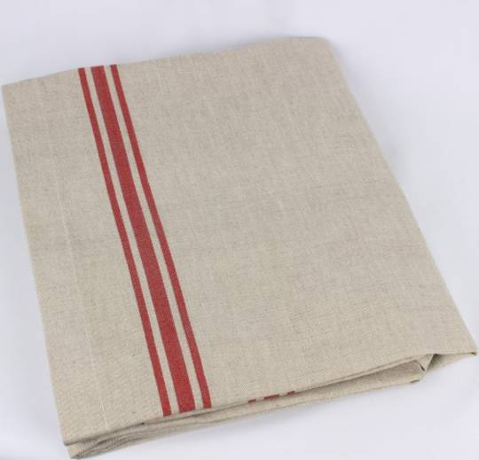 Marseille linen union table cloth 150X250cm red Code: TC-MAR/250/RED