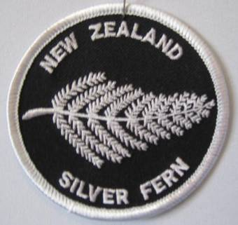 """Fern"" embroidered badge. Code: SB55"