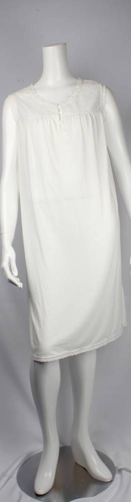 Bamboo Cotton  sleeveless nightie grey,ivory  Style: AL/ND-267IVORY