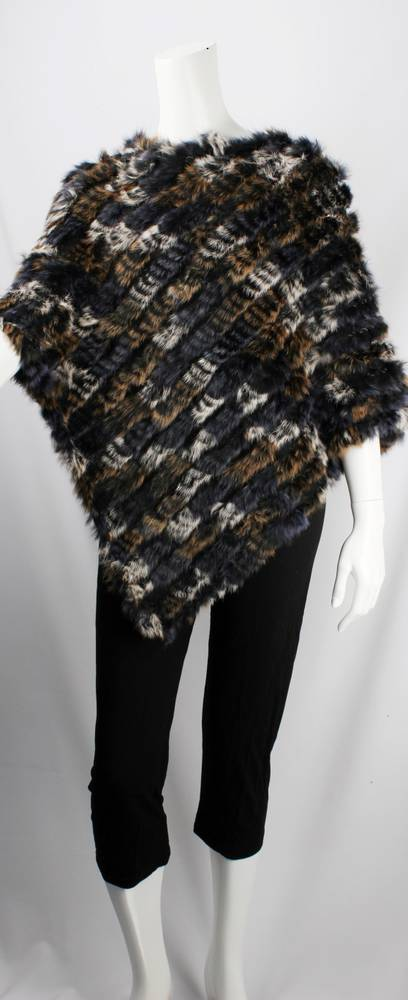 Alice & Lily fur poncho multi grey STYLE: SC/4254 GRYMULTI-SORRY SOLD OUT FOR SEASON