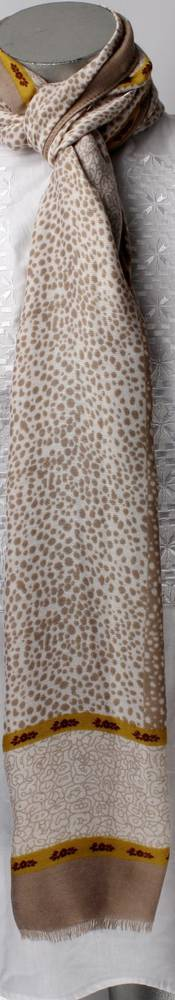 Soft brushed winter printed scarf beige Style: SC/4264BGE
